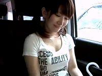 シャツの上からでも分かる見事な美巨乳オッパイの素人女子大生を車内で懸命に口説いて連れ込み生セックス erovideo 素人JD女子大生の無料エロ動画