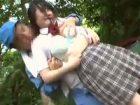 女子校生が野外レイプされて無理やりイマラチオ強要&はだけた制服のまま後ろから生挿入 RED TUBE 素人JK女子校生の無料アダルト動画