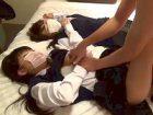 ラブドール状態の女子校生2人を交互に愛撫してクンニや手マン遊びに耽る援交オジサンがマジ変態 天使のたまご RED TUBE 素人JK女子校生の無料エロ動画