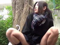ポニテ黒髪ギャル女子校生と援交中にノリで野外オナニーしてもらって撮影しちゃいました ShareVideos 素人JK女子校生の無料エロ動画