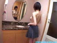 お椀型のキレイな美巨乳女子高生が生徒な黒髪ショートを揺らして援交3Pと中出し性交 ShareVideos 素人JK女子校生の無料エロ動画