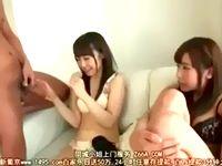 ヤリたい盛りのエロ女子大生2人組がエロメンお兄さんのデカチンを目の前にして照れながらも嬉しそうにハメられちゃう ShareVideos 素人JD 女子大生の無料アダルト動画