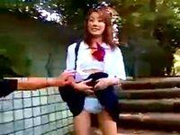 援交相手のギャル女子高生と野外露出プレイを楽しんだ後は青姦ハメ撮りして口内射精 erovideo 素人JK女子校生の無料アダルト動画