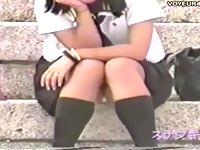 無防備にパンチラ晒しまくりの制服女子校生たちの下半身をコッソリ個人撮影で盗撮しまくり ShareVideos 素人JK女子校生の無料アダルト動画