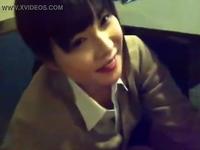 個人撮影された援交女子高生のフェラチオ動画がネット流出!エロい目つきの化粧ケバめな黒髪少女が上目遣いでねっとりフェラ ShareVideos 素人JK女子校生の無料エロ動画