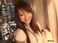 エロ可愛い小悪魔系のお姉さん女子大生が夜景の見える高層ホテルでネットリ濃厚な3Pセックス erovideo 素人JD 女子大生の無料エロ動画